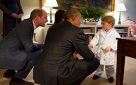 حواشی دیدار اوباما با شاهزاده کوچک/ عکس