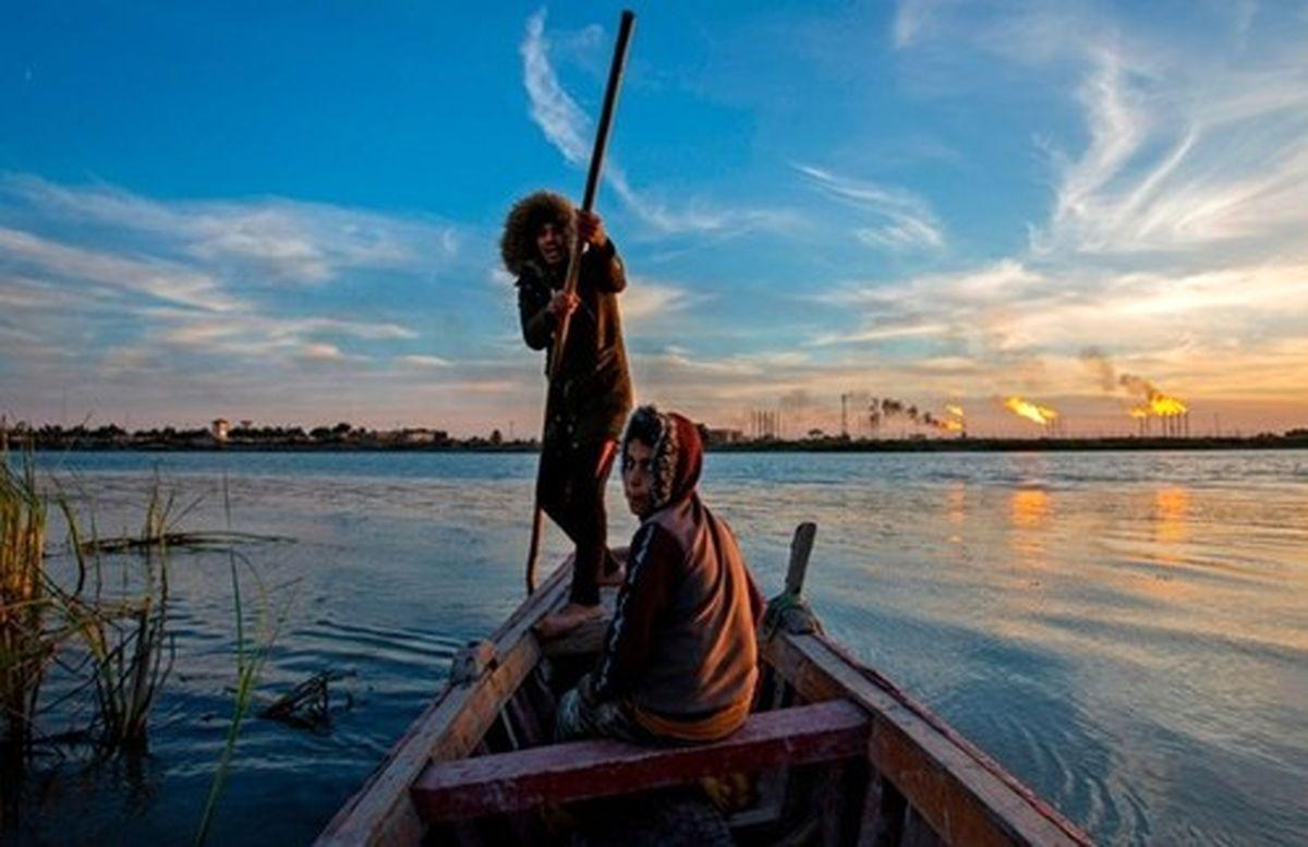 عکسی زیبا از ماهیگیری در بندر بصره عراق