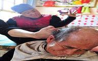 آرایشگری با پا! (عکس)