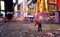 اینجا نیویورکِ آمریکاست بعد از جشن سال نو / عکس