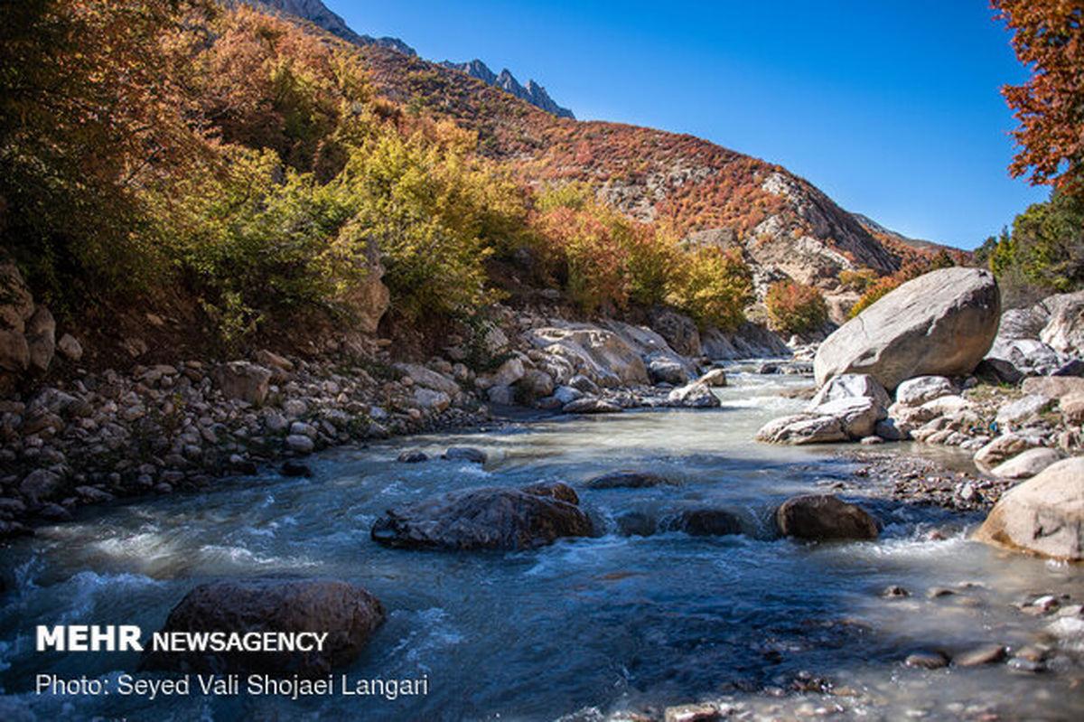 تصاویری زیبا از حال پریشان رودخانه «تجن» در شمال کشور
