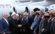 استقبال مقامات عالی استانی از رئیس جمهور در فرودگاه ساری/عکس