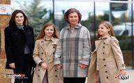 عیادت ملکه اسپانیا و مادرشوهرش از پادشاه پس از مشاجره جنجالی/تصاویر