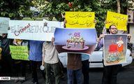 تصاویر: تجمع دانشجویان مقابل سفارت انگلیس
